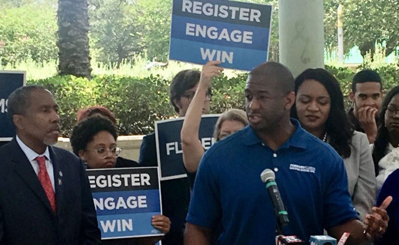 Andrew Gillum Thursday at the University of South Florida