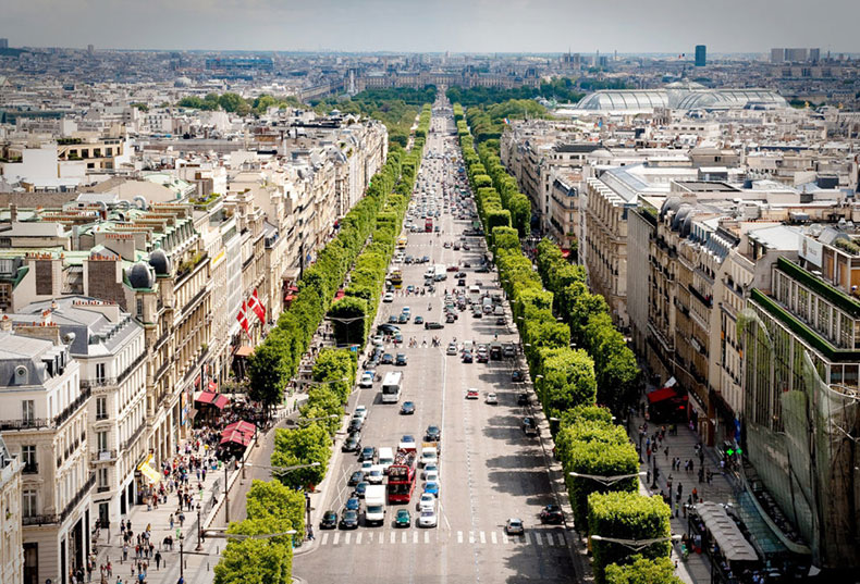 Imagine a Champs Elysses-type corridor with light rail in the center ... as a hurricane evacuation route