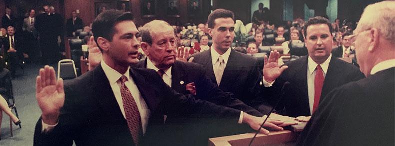 From left, Gaston Cantens, Ken Sorensen, Manuel Prieguez and Gus Barreiro