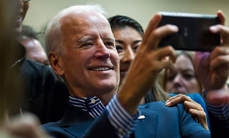 Joe Biden takes a selfie with Lucy Flores, 2014