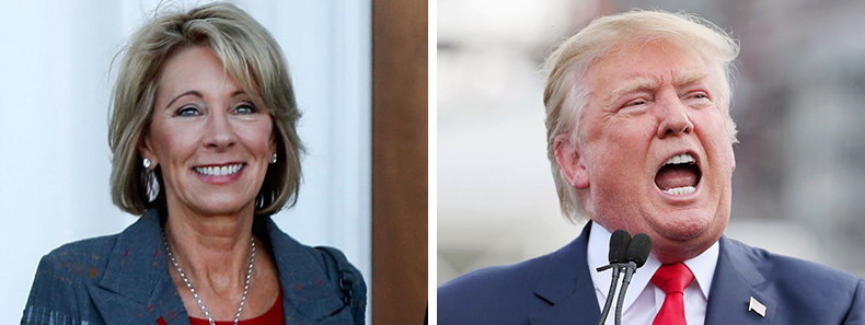 Are Pence And Devos One Two Knock Out >> Anti Common Core Groups Unhappy About Trump Ed Secretary Pick Betsy