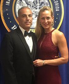 Andrew and Julie Pollack at DeSantis' Inaugural Ball
