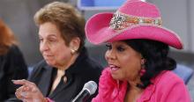 Frederica Wilson, in pink