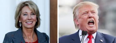 Betsy DeVos and Donald Trump