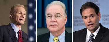 Bill Nelson, Tom Price and Marco Rubio