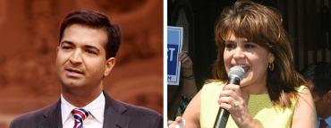 Carlos Curbelo and Annette Taddeo