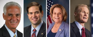 Charlie Crist, Marco Rubio, Ileana Ros-Lehtinen and Bill Nelson