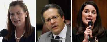 Dana Young, Miguel Diaz de la Portilla and Anitere Flores