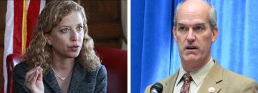 Debbie Wasserman Schultz and Rick Larsen