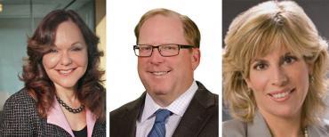 Hillarie Bass, John M. Stewart and Dori Foster-Morales
