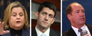 Ileana Ros-Lehtinen, Paul Ryan and Ted Yoho