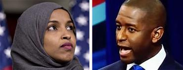 Ilhan Omar and Andrew Gillum