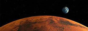 Mars, with Earth 140 million miles away