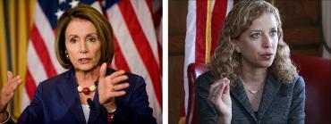 Nancy Pelosi and Debbie Wasserman Schultz