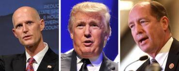 Rick Scott, Donald Trump, and Ted Yoho