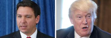 Ron DeSantis and Donald Trump