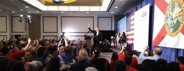 Marco Rubio celebrates victory in Miami