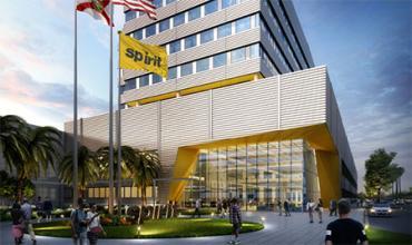 Rendering of new Spirit Airlines headquarters