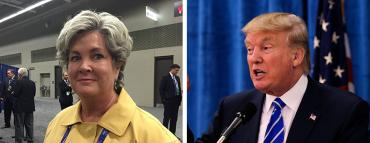Susie Wiles and Donald Trump