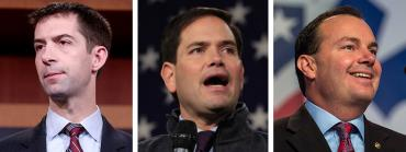 Tom Cotton, Marco Rubio and Mike Lee