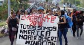 Army of Central Americans, mostly Hondurans, march through Mexico towards the U.S. border