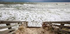 Post-hurricane beach erosion on Jupiter Island