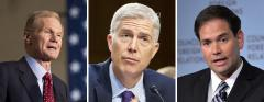 Bill Nelson, Neil Gorsuch and Marco Rubio