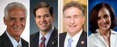 Charlie Crist, Marco Rubio, Joe Garcia and Allison Tant
