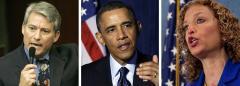 Dennis Ross, Barack Obama and Debbie Wasserman Schultz