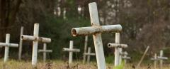 Only a portion of the scores of bodies unearthed were given marked graves at Dozier