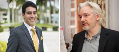 Evan Ross and Julian Assange