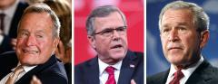 George H.W. Bush, Jeb Bush, and George W. Bush