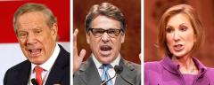 George Pataki, Rick Perry, and Carly Fiorina