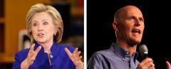 Hillary Clinton and Rick Scott