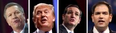 John Kasich, Donald Trump, Ted Cruz and Marco Rubio