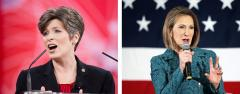 Joni Ernst and Carly Fiorina