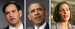 Marco Rubio, Barack Obama and Kathy Castor