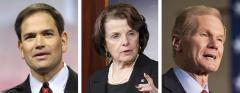 Marco Rubio, Diane Feinstein and Bill Nelson