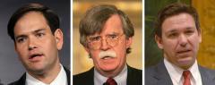 Marco Rubio, John Bolton and Ron DeSantis