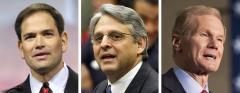 Marco Rubio, Merrick Garland and Bill Nelson