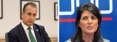 Mario Diaz-Balart and Nikki Haley