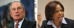 Mike Bloomberg and Val Demings