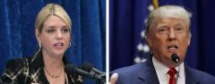 Pam Bondi and Donald Trump