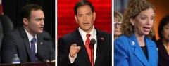 Patrick Murphy, Marco Rubio and Debbie Wasserman Schultz
