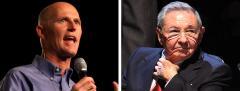 Rick Scott and Raul Castro