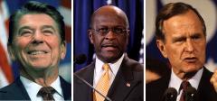 Ronald Reagan, Herman Cain, and George H.W. Bush
