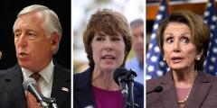 Steny Hoyer, Gwen Graham and Nancy Pelosi
