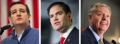 Ted Cruz, Marco Rubio and Lindsey Graham