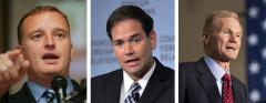 Tom Rooney, Marco Rubio and Bill Nelson