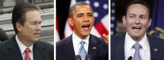 Vern Buchanan, Barack Obama and Patrick Murphy